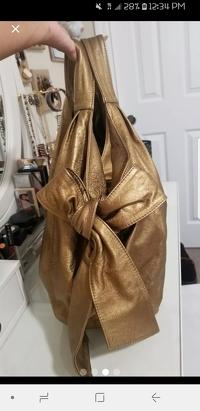 Metallic Gold Valentino Nuage Bow Angle3