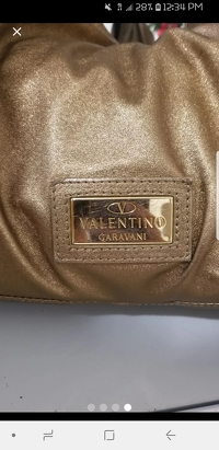 Metallic Gold Valentino Nuage Bow Angle4