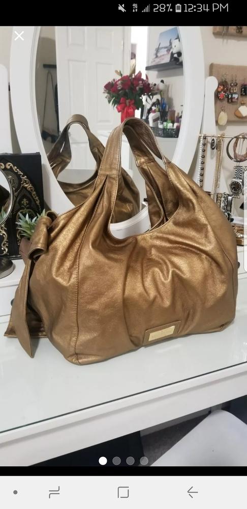 Metallic Gold Valentino Nuage Bow