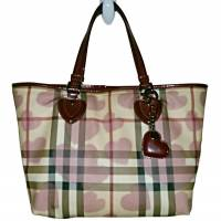 Burberry Nova Check Heart Tote