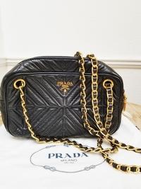Prada Chain Leather Shoulder/Crossbody Bag Angle5