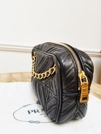 Prada Chain Leather Shoulder/Crossbody Bag Angle7