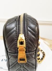 Prada Chain Leather Shoulder/Crossbody Bag Angle8