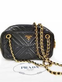 Prada Chain Leather Shoulder/Crossbody Bag Angle1