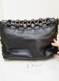 Christian Dior Shoulder Flap Bag Angle3