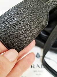 Prada Drawstring Black Deer Leather Tote Angle5
