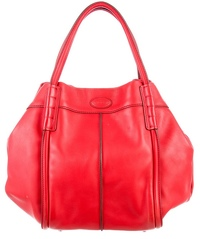 NOT AVAILABLE AT THIS TIME Tods Red Leather Tote