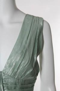 Mint Green Metallic Sleeveless Empire Waist Top Angle3