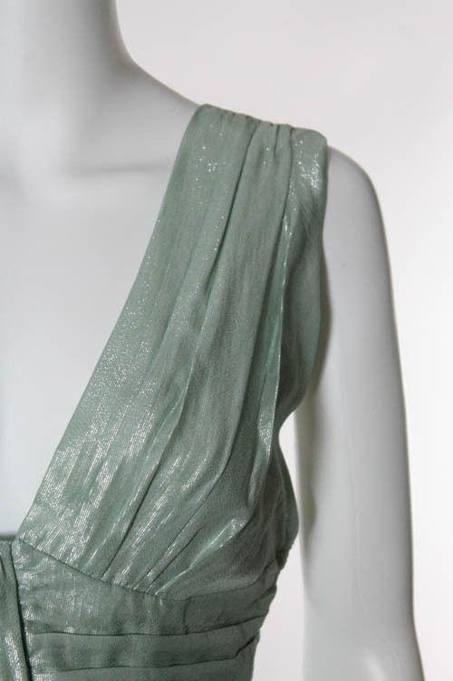 Mint Green Metallic Sleeveless Empire Waist Top