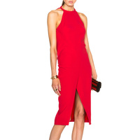 NICHOLAS Crepe Drape Back Dress