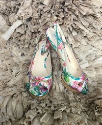 Karl Lagerfield Floral Open Heels size 8 new