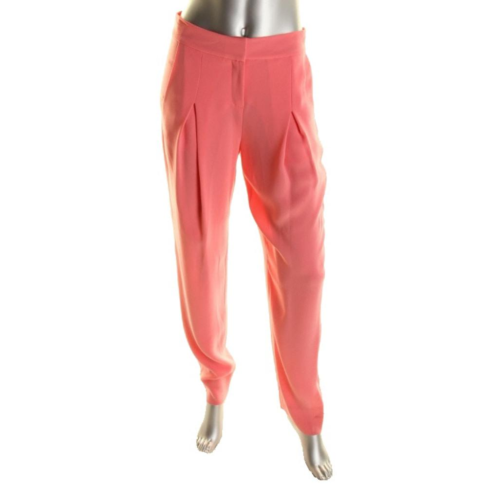 "DVF ""Belinda"" Pink Textured Dress Pants"