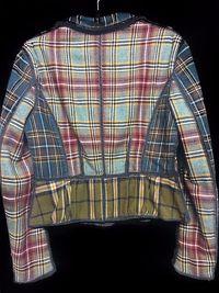 Wool Plaid Alberta Ferretti Blazer Angle2