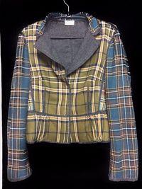Wool Plaid Alberta Ferretti Blazer Angle4