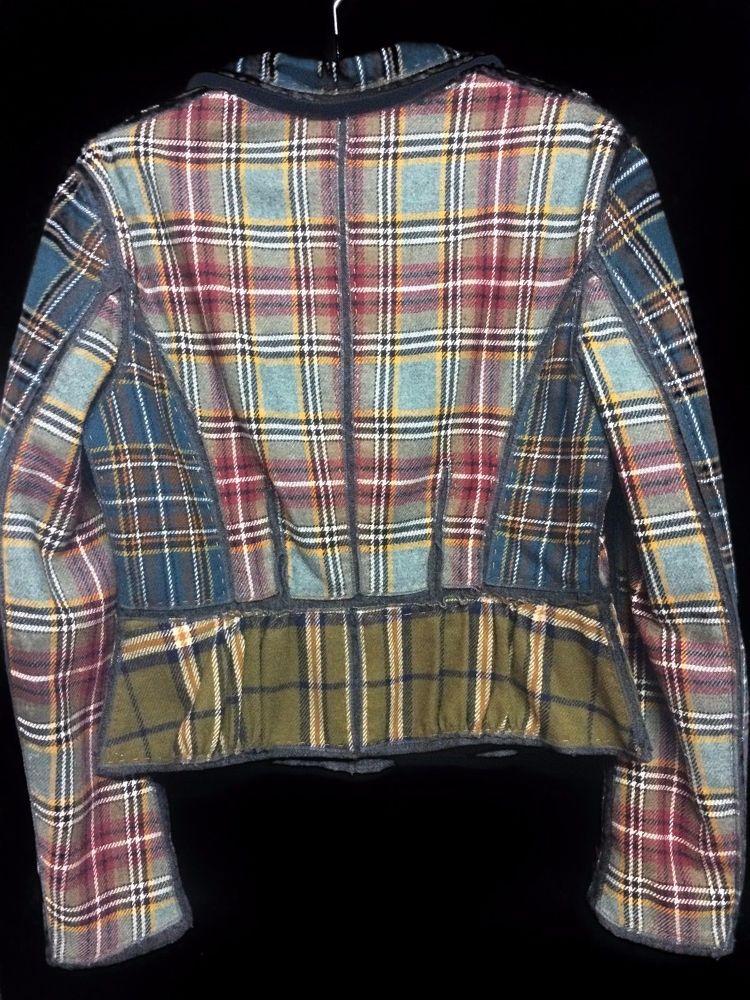 Wool Plaid Alberta Ferretti Blazer
