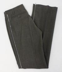 Brown Straight Leg Creased Front Pants