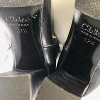 Chloe Black Leather Paddington Wrap Hardware Boots Angle4