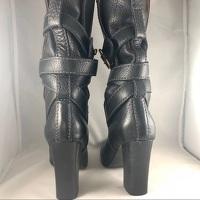 Chloe Black Leather Paddington Wrap Hardware Boots Angle6