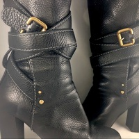 Chloe Black Leather Paddington Wrap Hardware Boots Angle7