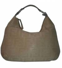FENDI LEATHER WOVEN FOREVER BAG