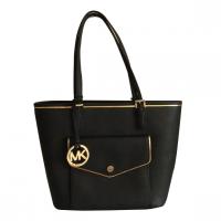 Michael Kors Specchio Jet Set Tote Bag Black/Gold