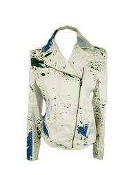 Tibi paint splatter moto jacket sz 8