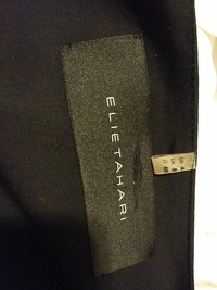 Elie Tahari black knee length dress size 4 Angle4