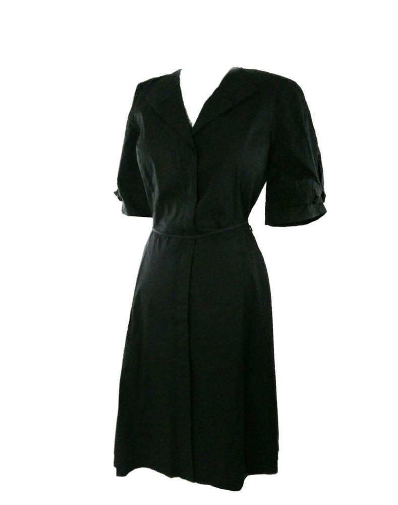 Elie Tahari black knee length dress size 4