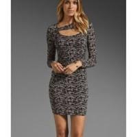 Tracy Reese Keyhole Bodycon Spots Print Dress Angle5