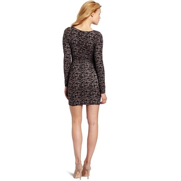 Tracy Reese Keyhole Bodycon Spots Print Dress