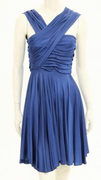 Navy blue sleeveless dress Angle2