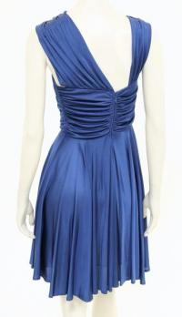 Navy blue sleeveless dress Angle4