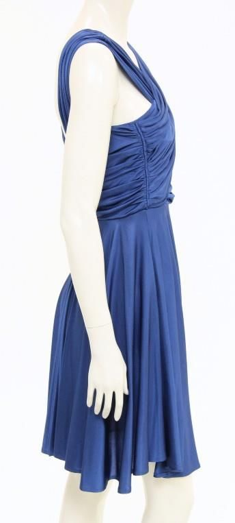 Navy blue sleeveless dress