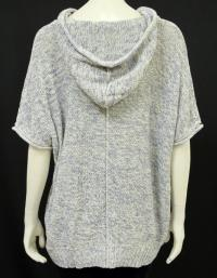 Cream and Blue Short sleeve hooded sweater Angle3