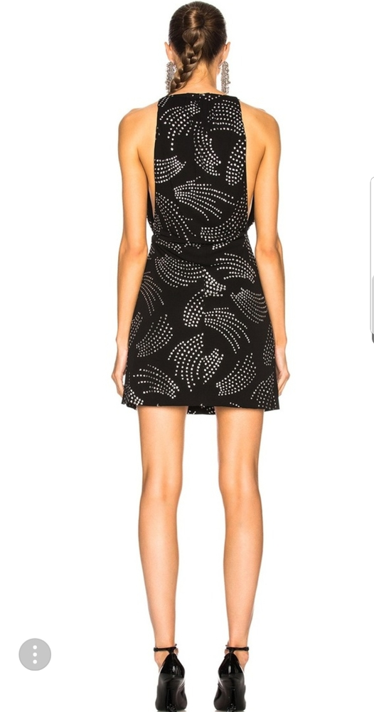 Saint Laurent dress deep V dress