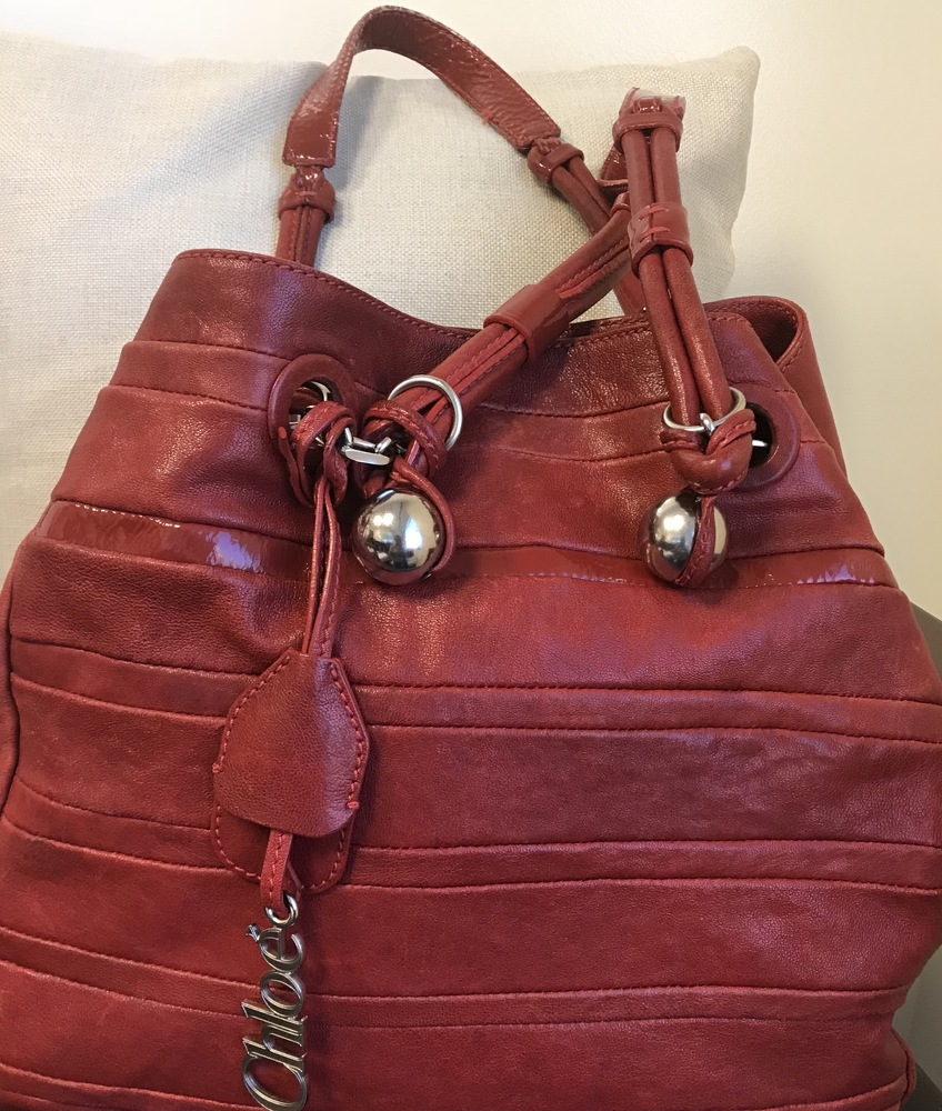 Red Chloe Shoulder Bag