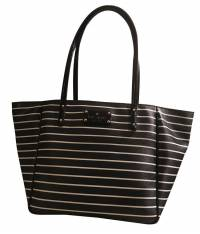 Kate Spade Blue and White Stripe Tote