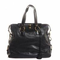 YSL Leather Muse Messenger tote