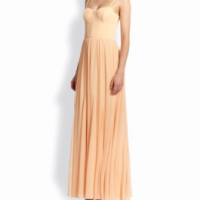 Alice and Olivia Pierce Bustier Maxi Dress - peach