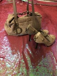 Christian Dior Vintage Suede Trotter & Heels 9