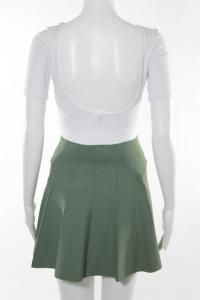 A.L.C Green Knit Pleated flare Skirt Angle4