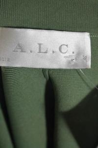 A.L.C Green Knit Pleated flare Skirt Angle5