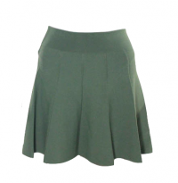 A.L.C Green Knit Pleated flare Skirt Angle1