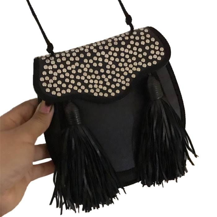 Studded small crossbody