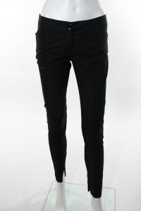 Black Cotton Skinny Leg Dress Pants sz 38
