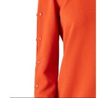 Tibi Orange Paprika Button Shift Dress Angle6