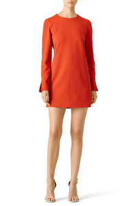 tibi-orange-paprika-button-shift-dress-tibi
