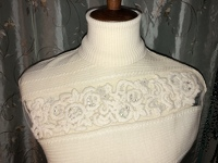 Cream Colored Embellished Top Angle6