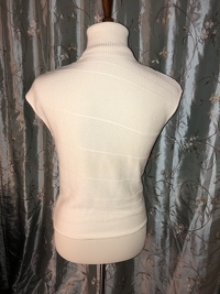 Cream Colored Embellished Top Angle9