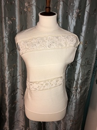 Cream Colored Embellished Top Angle2